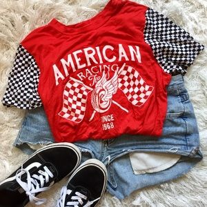 Checkered Graphic Tee